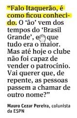 Detalhe da coluna publicada neste domingo pela Folha de S. Paulo