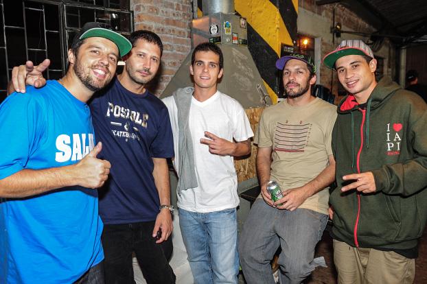 Marcus Cida, Marcelo Marreco, Danny Cerezini, Osni Ribeiro e Diego Chavero