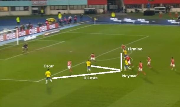 Flagrante da mobilidade que se espera na seleção  Neymar e92d5cf1cf679