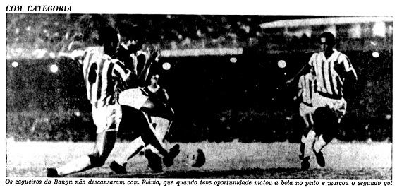 No JB, Fluminense vence Bangu por 3 a 0, Flávio faz um gol