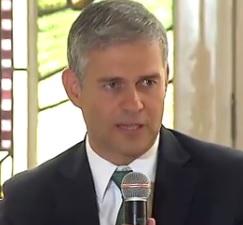 O presidente do Fluminense, Peter Siemsem