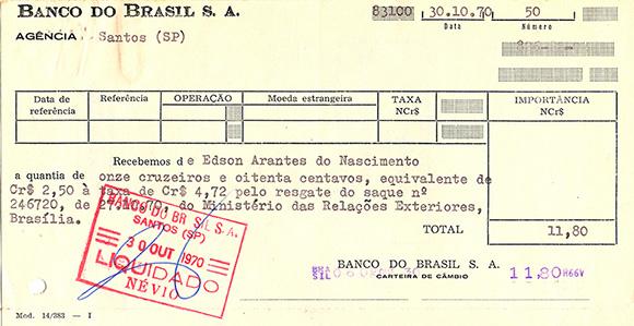 Matéria Pelé - Recibo