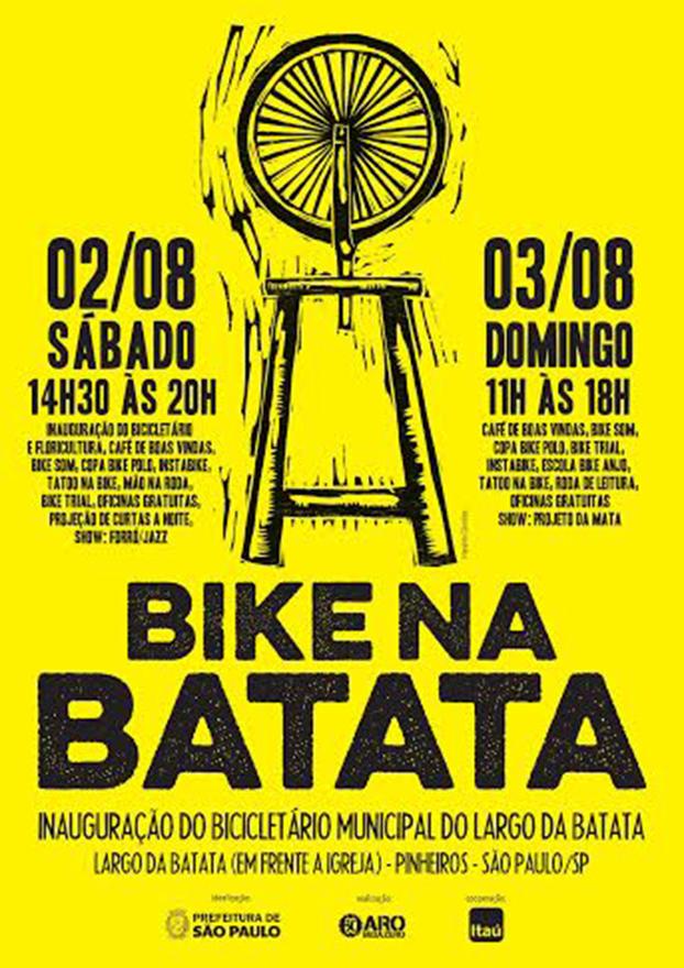 Convite para o Festival Bike na Batata