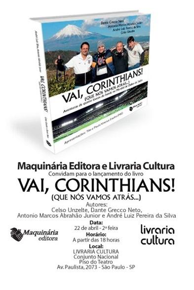 Dia 22/04, a partir das 18h,  na Livraria Cultura do Conjunto Nacional (São Paulo/SP)