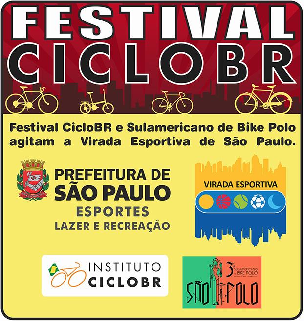 Festival CicloBR na Virada Esportiva em São Paulo.
