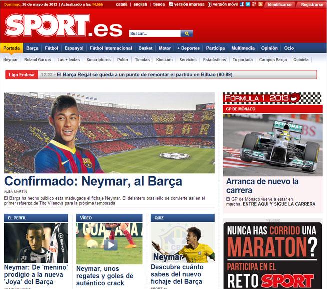 Neymar domina as páginas na Espanha, principalmente na Catalunha
