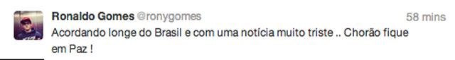 Tweet Rony Gomes