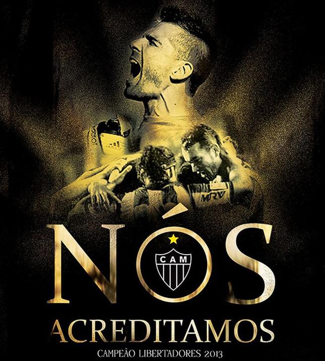 Livro 'Nós Acreditamos', sobre o título do Atlético-MG na Libertadores