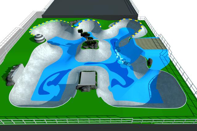 Geral em 3D da área do Park
