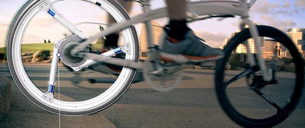 A Soft Wheel utiliza três cilindros de compressão para absorver o impacto