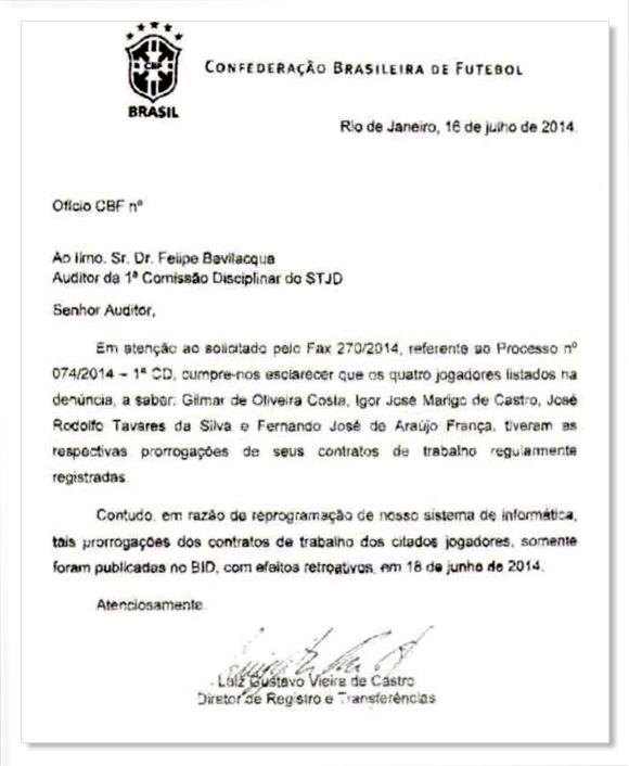 Documento CBF