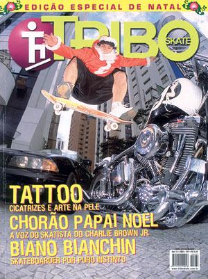 Chorão na capa da Revista Tribo