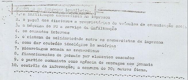 O relatório em detalhes: denúncia de comunistas dentro das redações e a força do Partidão entre os jornalistas