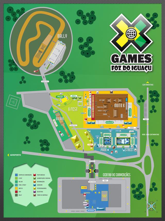 Gera da Área de Competição dos X Games Foz do Iguaçu