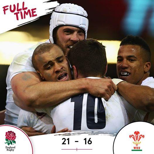 Inglaterra surpreende Gales em Cardiff.