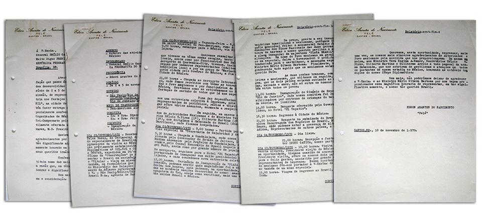 Matéria Pelé - Carta Pelé 5 páginas