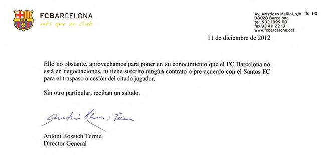Neymar Contrato Página 60 Carta