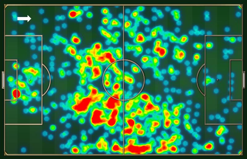 Mapa de movimenta  o do Arsenal na vit ria por 2 a 0 b66c31886c069