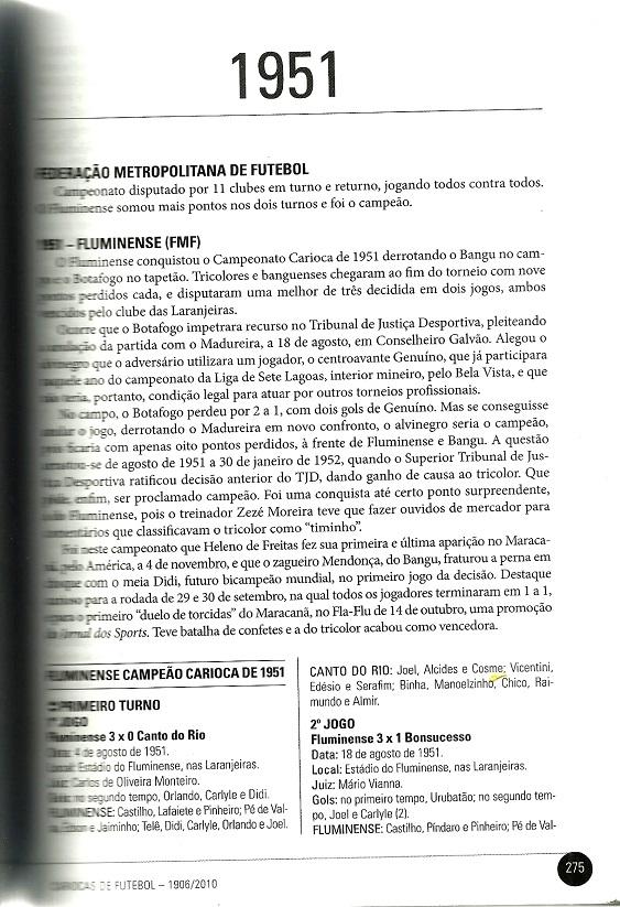 O caso Genuíno no livro Histórias do Campeonato Carioca de Futebol 1906-2010, de Roberto Assaf e Clovis Martins