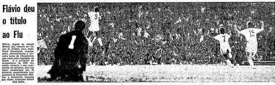 A festa do gol com os jogadores do Fluminense comemorando, na cobertura de O Globo