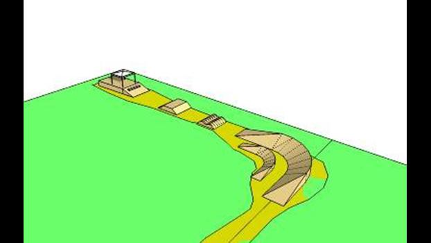 Desenho de uma pista de 4X.