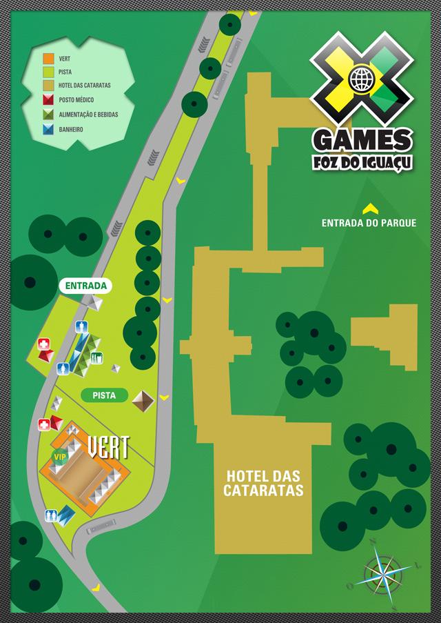 Mapa da Área dos X Games