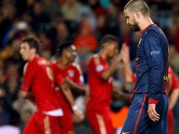 Piqué lamenta gol contra na vitória do Bayern de Munique sobre o Barcelona