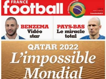 Capa da France Football chama a Copa de 2022 de 'impossível'