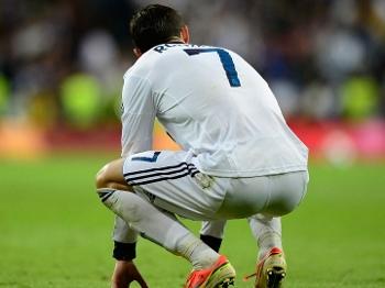 Cristiano Ronaldo após segundo gol do Atlético de Madri