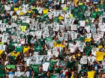 Torcida do Palmeiras durante a partida contra o Boa Esporte, pela 36ª rodada da Série B