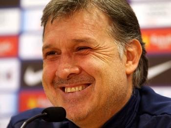 Gerardo Martino, técnico do Barcelona, em entrevista coletiva