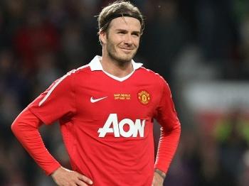 Beckham teve uma carreira mais que vitoriosa no United