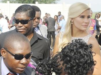Copa Africana Teodorin Obiang Vice-Presidente Guiné Equatorial Namorada Dinamarquesa Christina Mikkelsen 23/12/14