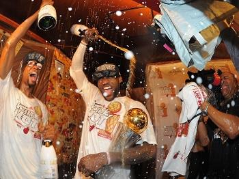 NBA Final Chris Bosh Lebron James Comemoração 20/06/13
