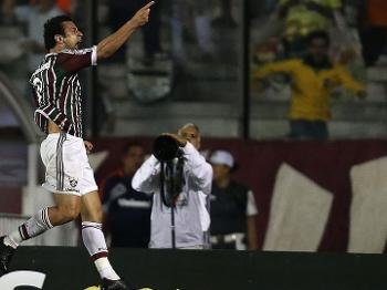 be608210c5 Fred comemora o gol do Fluminense sobre o Emelec em São Januário
