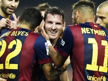 Messi Comemora Gol Barcelona Eibar Campeonato Espanhol 18/10/2014