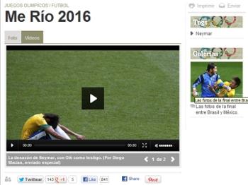 'Me Río 2016' foi a chamada do jornal argentino Olé