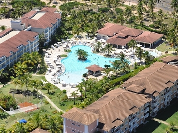 Vista aérea de hotel na Costa do Sauípe, na Bahia, local do sorteio dos grupos da Copa-2014