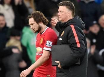 Inglês Swansea City Manchester United Louis van Gaal Blind 21/02/15