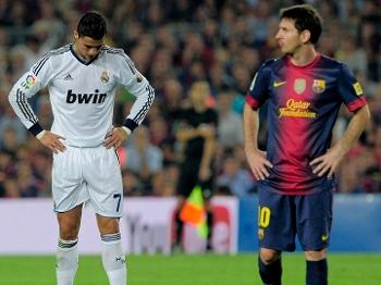 Cristiano Ronaldo e Messi fazem um confronto em particular no Superclássico