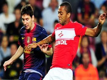 672771d3f8cc1 Rafael Carioca marca Messi em jogo pela Liga dos Campeões