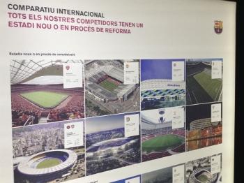 'Todos os nossos rivais têm estádios novos ou em reformas', diz banner