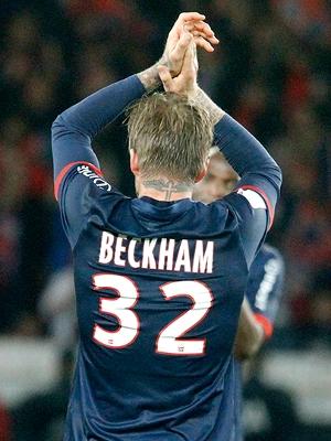David Beckham também vestiu a camisa 32 no PSG