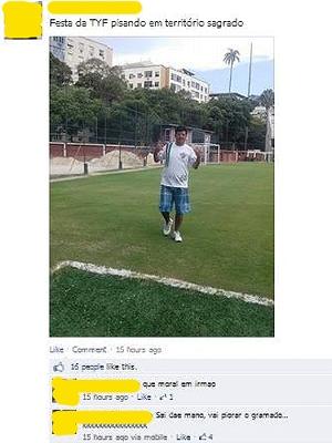 Fluminense Torcedor Posta Foto Campo Laranjeiras Festa Young Flu