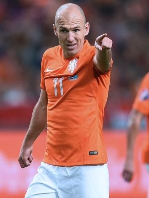 Robben voltou à equipe após dois jogos fora