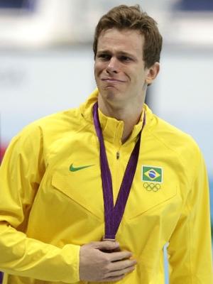 Cielo chorou após receber a medalha de bronze
