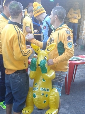 Canguru também está presente à festa australiana