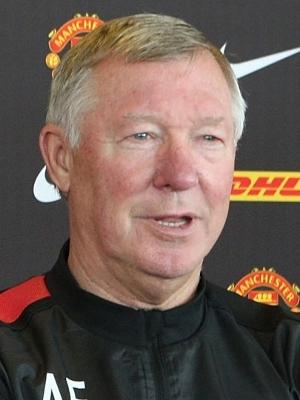 Alex Ferguson, técnico do Manchester United, em entrevista coletiva