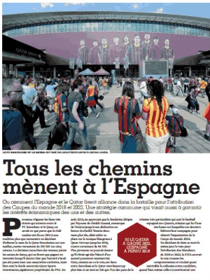 'Todos os caminhos levam à Espanha': foto do Camp Nou