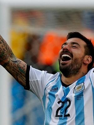 Lavezzi comemora: Argentina está na final da Copa